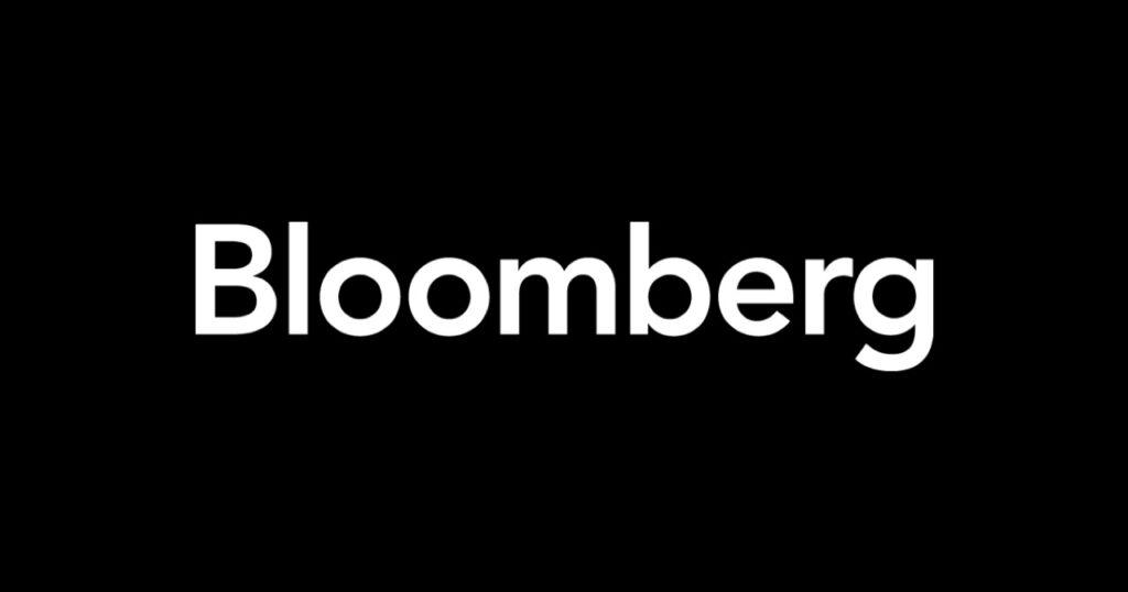 White Bloomberg Logo in Black Box