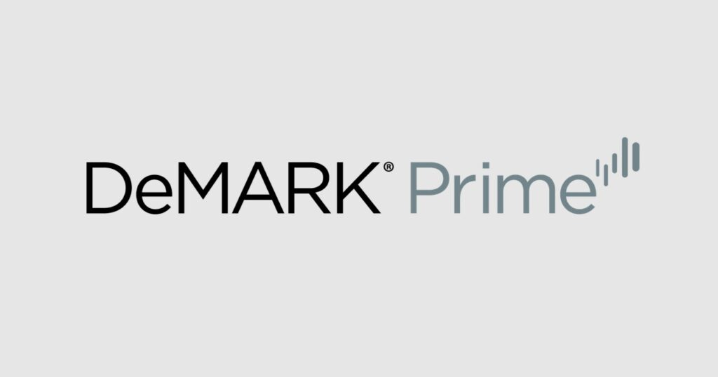 DeMARK Prime Logo in Gray Block